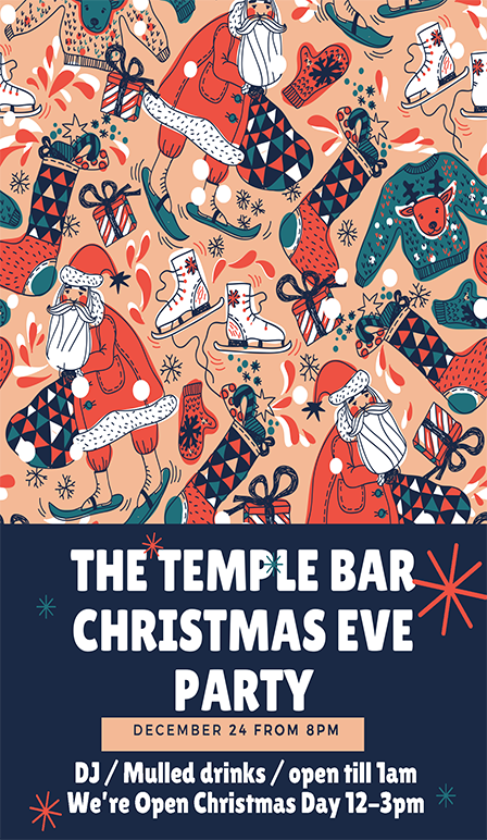 Christmass Eve Party at The Temple Bar Pub Brighton