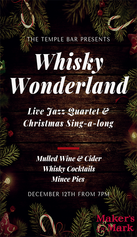Whisky Wonderland at The Temple Bar Pub Brighton
